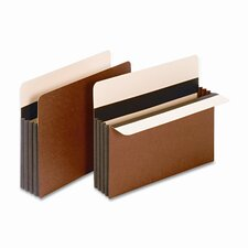 """Globe-Weis 3.5"""" Expansion Accordion Pocket, Straight, Redrope, Letter (25/Box)"""