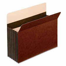 """Globe-Weis 5.25"""" Expansion Accordion Pocket, Straight Cut, Letter (10/Box)"""
