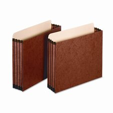 "Globe-Weis 3.5"" Expansion File Pockets, Straight, Letter, Redrope (10/Box)"