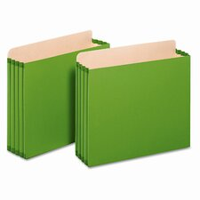 "Globe-Weis 3.5"" Expansion File Pockets, Straight, Letter (Set of 12)"