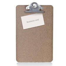 "Hardboard Clipboard, 1"" Paper Capacity, 6""x9"", Brown"