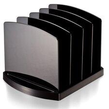 "Standard Sorter, 4 Compartmentss, 9-1/2""x7-1/2""x6-3/4"", Black"
