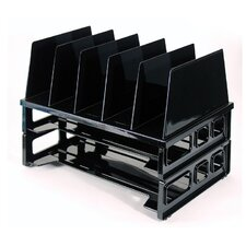 "Tray And Sorter System, 13-1/2""x9-1/8""x10-1/4, Black"