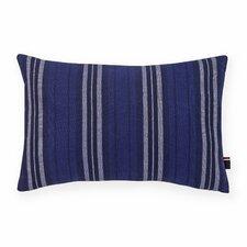 Denim Stripe Denim Decorative Cotton Lumbar Pillow