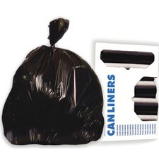 33-Gallon Super-Heavy Grade Can Liner in Black