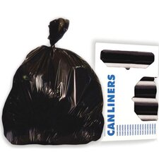 56-Gallon Super-Heavy Grade Can Liner in Black
