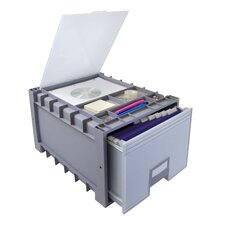 Plastic Archive Storage Box with Lid