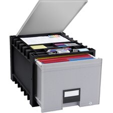 Archive Drawer with Lid and Lock (Set of 2)