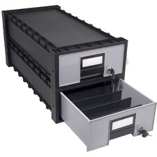 Plastic Archive Storage Box (Set of 2)