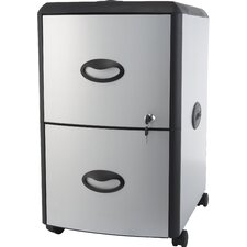2-Drawer Mobile File Cabinet with Lock