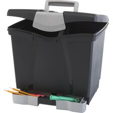 Portable File Box with Drawer (Set of 4)