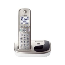 Panasonic Dect 6.0 Plus Single Handset Expandable Digital Cordless Phone System