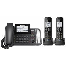 Panasonic Dect 6.0 1.9 Ghz, Link2cell® and 2 Line Digital Cordless Phone