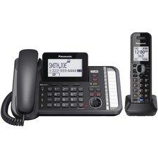 Panasonic Dect 6.0 1.9 Ghz Link2cell® 2 Line Digital Cordless Phone