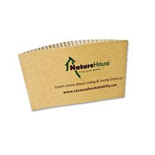 Naturehouse Hot Cup Sleeves, Fits 8-Oz Cups, 50/Pack