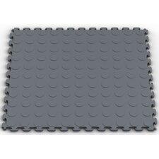 Raised Coin Multi-Purpose PVC Floor Tile in Dove Gray (Pack of 6)