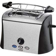 """Toaster 2 Scheiben """"TA 1358 CB"""" in Edelstahl / Schwarz"""