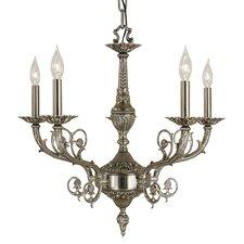 Napoleonic 5 Light Candle Chandelier