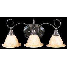 Black Forest 3 Light Vanity Light