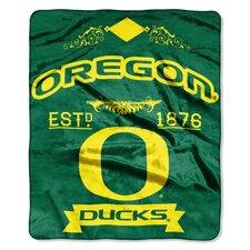 Collegiate Oregon Label Raschel Throw