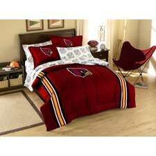 NFL Cardinals 7 Piece Full Bed in a Bag Set