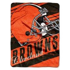 NFL Browns Deep Slant Micro Raschel Throw