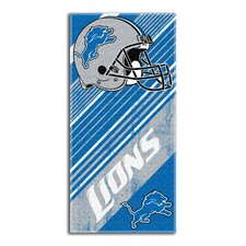 NFL Lions Diagonal Beach Towel