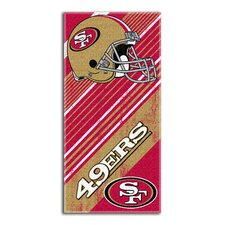 NFL 49ers Diagonal Beach Towel