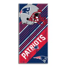 NFL Patriots Diagonal Beach Towel