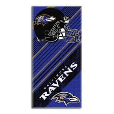 NFL Ravens Diagonal Beach Towel