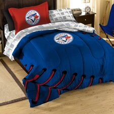 MLB Blue Jays Contrast 5 Piece Twin Bed in a Bag Set