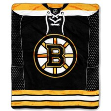 NHL Boston Bruins Puck Super Plush Throw