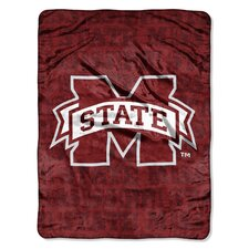 College NCAA Mississippi State Micro Raschel Throw Blanket