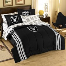 NFL Oakland Raiders Embroidered Twin/Full Comforter Set
