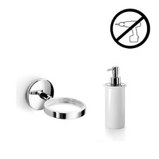 Noanta Self-Adhesive Single Holder with Soap Dispenser