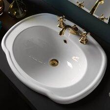 Contea Drop-in Bathroom Sink with Overflow
