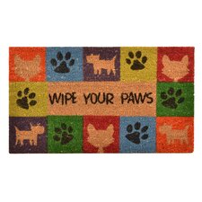 """""""Wipe Your Paws"""" Doormat"""