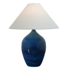 """Scatchard Stoneware 27"""" H Table Lamp with Empire Shade"""