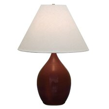 """Scatchard 28"""" H Table Lamp with Empire Shade"""