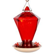 Audubon Ruby Diamond Glass Hummingbird Feeder