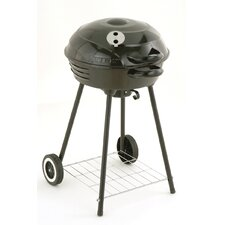 "18"" Charcoal Grill with 2 Wheels"