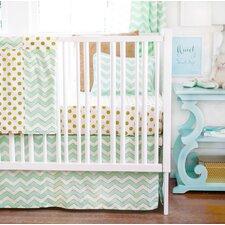 Gold Rush 2 Piece Crib Bedding Set