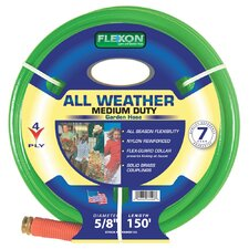 "All Weather Reinforced Nylon 0.63"" x 150' Garden Hose"