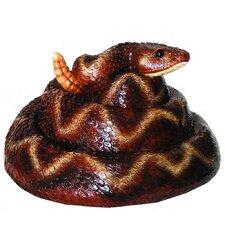 Rattler Snake Resin Statue