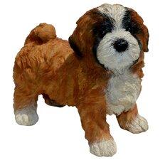 Diva Lhasa Apso Puppy Statue