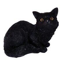 Crouching Cat Statue