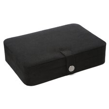 Renee Sectioned Sueded Jewelry Box in Black