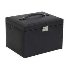 Raleigh Drop Front Locking Faux Leather Jewelry Box