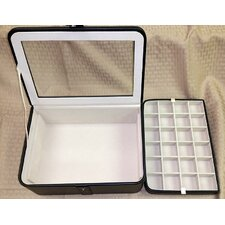 Easton Glass Top Jewelry Box