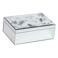 Chambord Mirrored Glass Box with Botanical Design